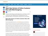 Open New Horizon of Online Customer Base with Web Designing