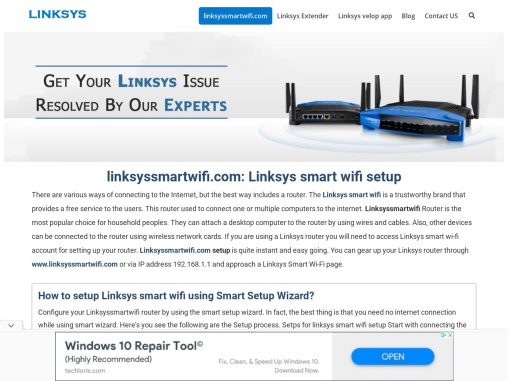 linksyssmartwifi.com login | linksys smart wifi | linksys router login