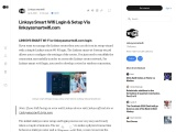 Linksys Smart Wifi Login Setup is easy to perform with the help of linksyssmartwifi.com. Facing link