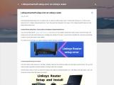 Linksys setup error on Linksys router