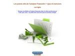 LES POINTS CLES DE L'ANALYSE FINANCIERE +EXERCICES