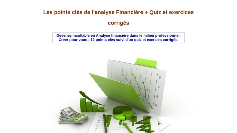 les points cles de l'analyse financiere +exercices