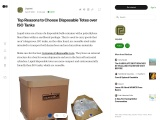 Top Reasons to Choose Disposable Totes over ISO Tanks