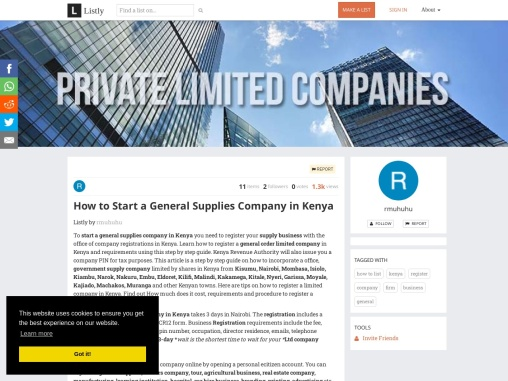 How to Start a General Supplies Company in Kenya