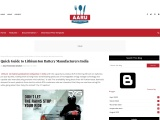 Quick Guide to Lithium Ion Battery Manufacturers India