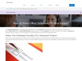 How To Solve Office Unlicensed Product Issues?