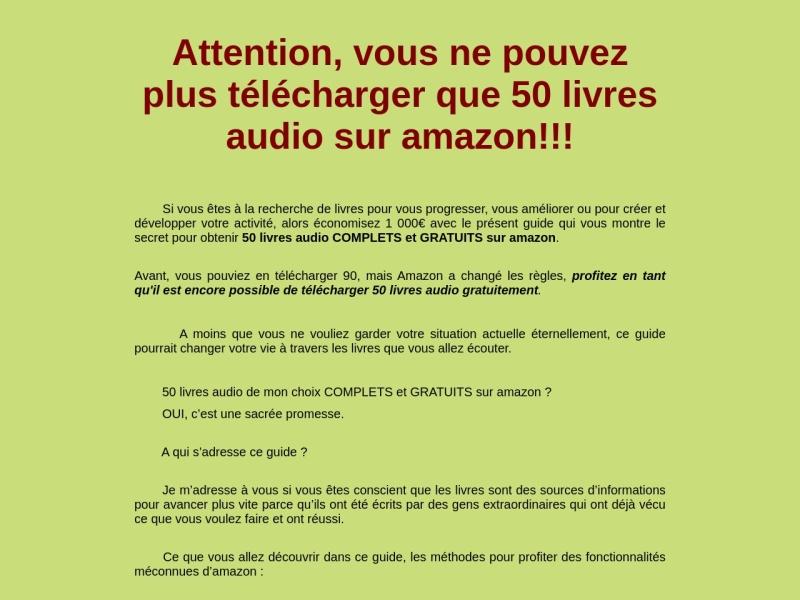 telecharg 50 livres audio gratuitement sur amazon.