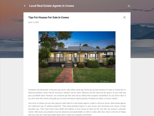 Tips For Houses For Sale In Cowes
