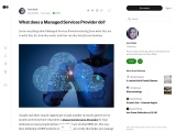 What does a managed service provider do?
