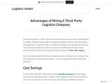 Advantages of Hiring A 3PL Company