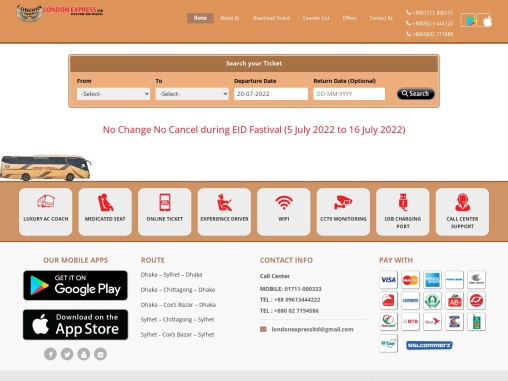 Dhaka to Chittagong Bus Ticket