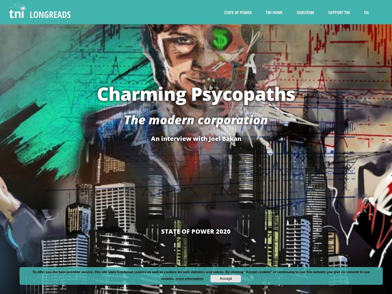 Charming psychopaths: The modern corporation