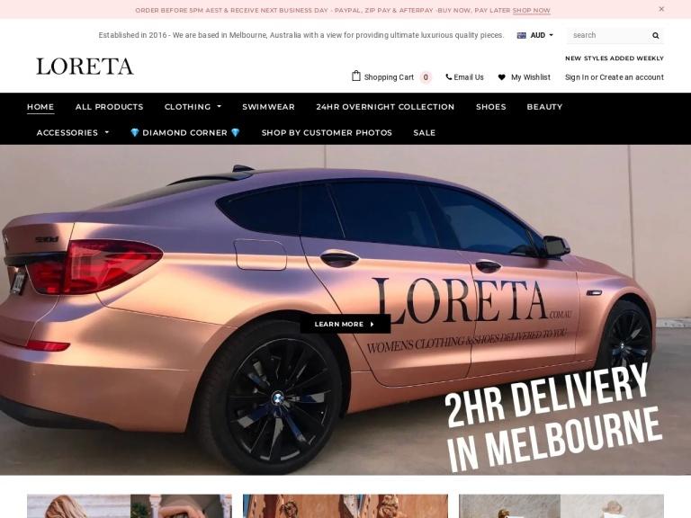 Loreta Clothing screenshot