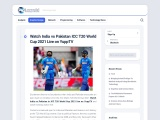 Watch India Vs Pakistan ICC T20 World Cup 2021 Live On YuppTV