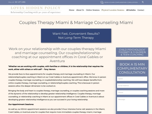 Couples Therapy and Marriage Counseling Miami