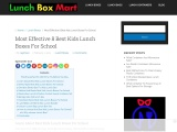 Best Kids Lunch Boxes For School Recipes