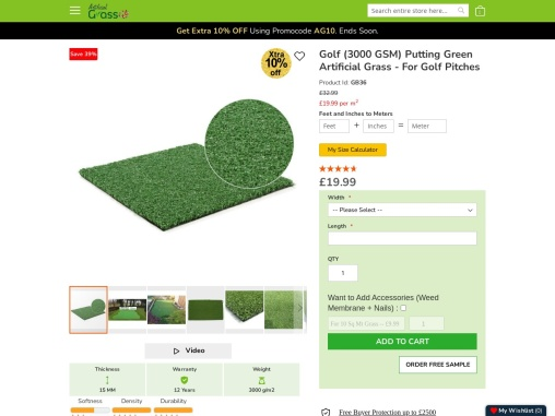 Re-style your outdoors with Artificial Putting Green!