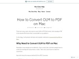 How to Convert OLM to PDF on Mac