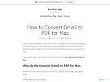 How to Convert Gmail to PDF for Mac
