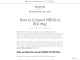 How to Convert MBOX to PDF Mac