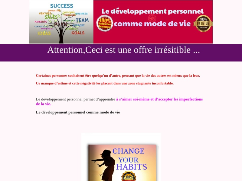 pack ebook develloppement personnel v. anglais