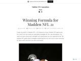 Winning Madden NFL Gameplan and Strategies