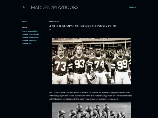 A Quick Glimpse Of Glorious History Of Nfl