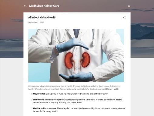 Nephrologist in Delhi | Madhuban Kidney Care