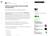 What Does United Airlines Offer In Its Flight Changes Policy?