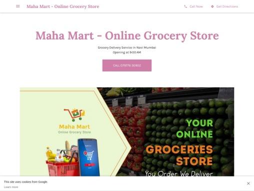 Maha Mart – Online Grocery Store
