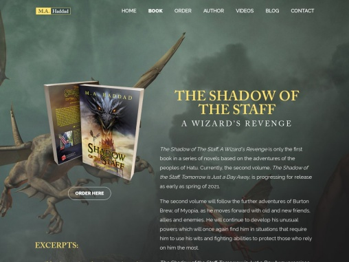 The Shadow of The Staff, A Wizard's Revenge by Mark Haddad