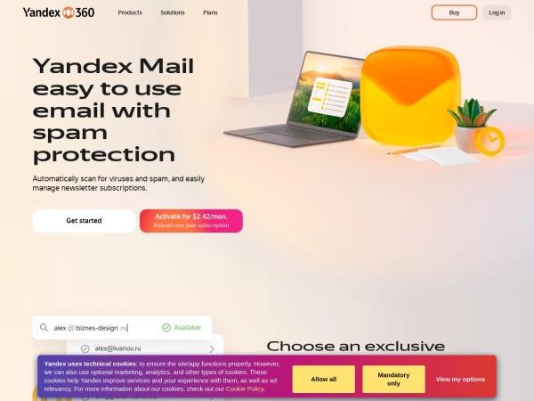 Yandex Mail - 10 Best Gmail Alternatives 2020