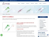 Buy Safety I.V. Cannula with injection port and wings (MAISSAFE)