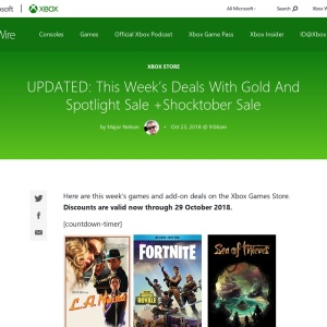 This Week's Deals With Gold And Spotlight Sale +Shocktober Sale |