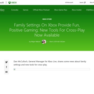 Family Settings On Xbox Provide Fun, Positive Gaming; New Tools For Cross-Play Now Available |