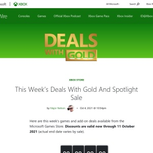 This Week's Deals With Gold And Spotlight Sale - Xbox's Major Nelson
