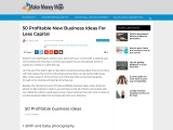 50 Profitable new business ideas for less capital