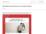 Best Matrimonial in Greater Kailash