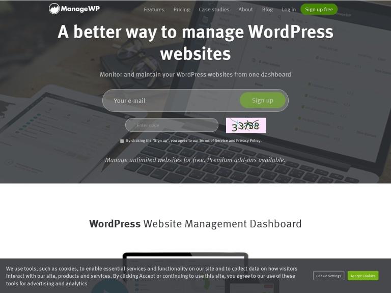 ManageWP Coupon Codes screenshot