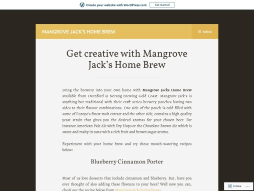 Get creative with Mangrove Jack's Home Brew