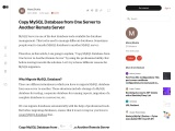 Copy MYSQL Database from One Server to Another Remote Server using Perfect way