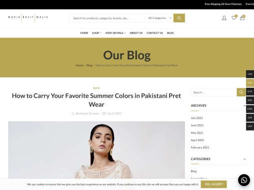 How to Carry Your Favorite Summer Colors in Pakistani Pret Wear
