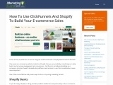 Marketing & Funnel Tech Helps the Businesses with Clickfunnels Shopify Integration