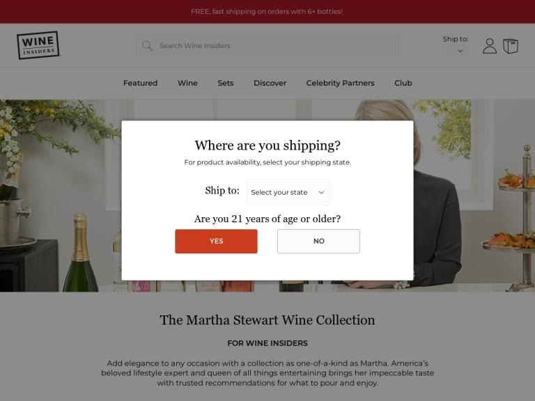 Martha Stewart Wine screenshot