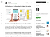 UX Design and Its Function in Digital Marketing