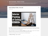 Interior Painting of Ceiling – How to do?