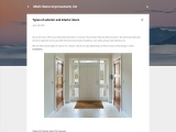 Types of exterior and interior doors