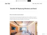 Benefits OF Replacing Windows and Doors