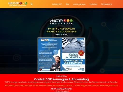 Contoh SOP Keuangan (Master SOP)