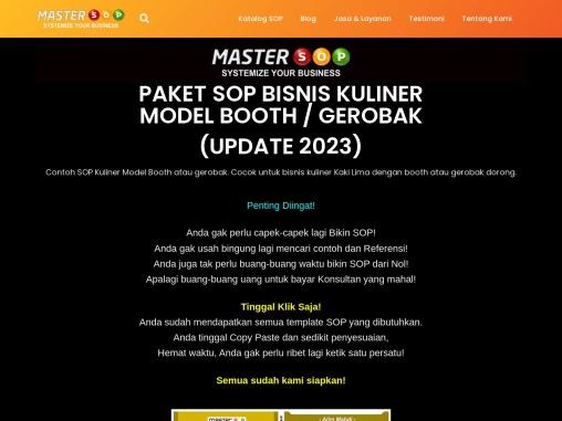 Contoh SOP Kuliner Model Booth (Master SOP)